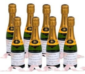 Personalised-miniature-Champagne-favours
