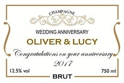 Personalised-champagne-label-classic-design-with-gold-border