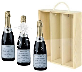 3-botlle-champagne-gift-box-with-ersonalised-label-for-wedding